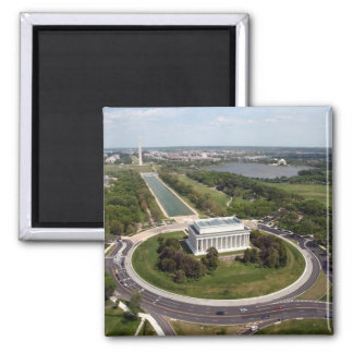 Lincoln Memorial 2 Inch Square Magnet