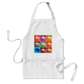 Lincoln Memorial Abstract Adult Apron