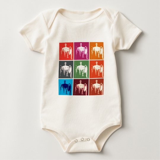 Lincoln Memorial Abstract Baby Bodysuit