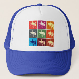Lincoln Memorial Abstract Trucker Hat