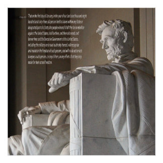 Lincoln Memorial and Emancipation Proclamation Poster