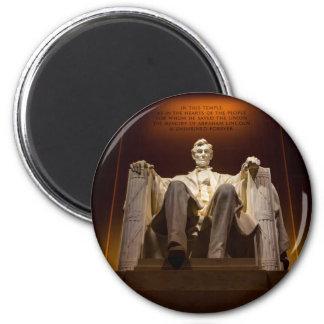 Lincoln Memorial At Night - Washington D.C. Magnet