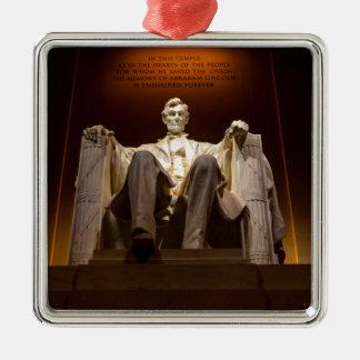 Lincoln Memorial At Night - Washington D.C. Metal Ornament