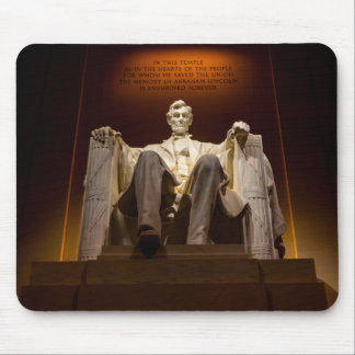 Lincoln Memorial At Night - Washington D.C. Mouse Pad