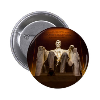 Lincoln Memorial At Night - Washington D.C. Pinback Button