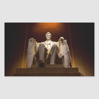 Lincoln Memorial At Night - Washington D.C. Rectangular Sticker