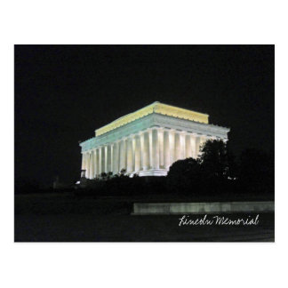Lincoln Memorial at Night Washington DC Post Card