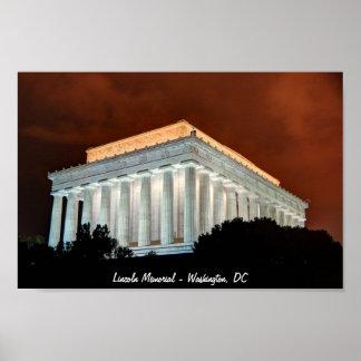 Lincoln Memorial at Night  - Washington DC Print
