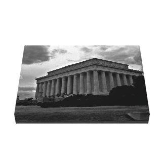 Lincoln Memorial Black and White Wrapped Canvas