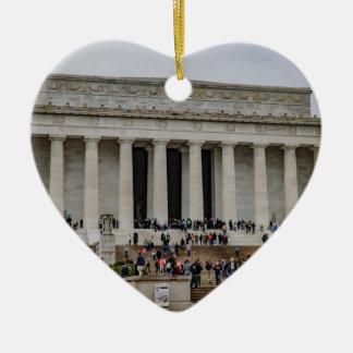 Lincoln Memorial Ceramic Ornament