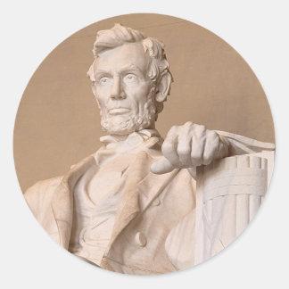 Lincoln Memorial Classic Round Sticker