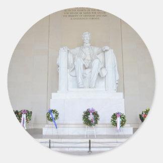 Lincoln Memorial. Classic Round Sticker