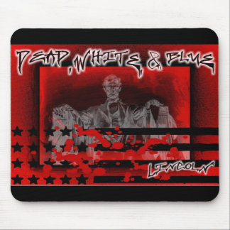 Lincoln Memorial-Dead, White& Blue Mouse Pad