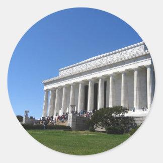Lincoln Memorial in Springtime Classic Round Sticker