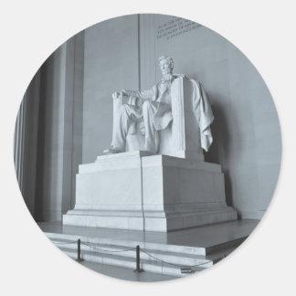 Lincoln Memorial in Washington DC Classic Round Sticker