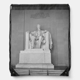 Lincoln Memorial in Washington DC Drawstring Backpack