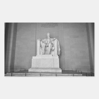 Lincoln Memorial in Washington DC Rectangular Sticker