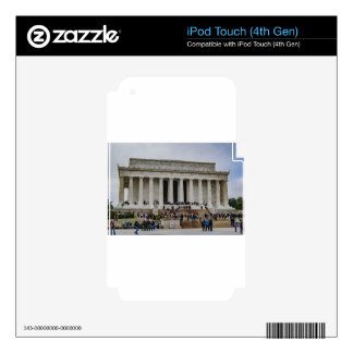 Lincoln Memorial iPod Touch 4G Decal