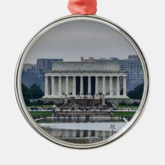 Lincoln Memorial Metal Ornament