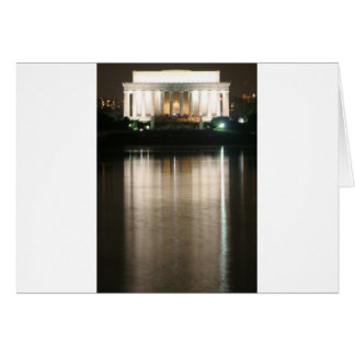 Lincoln Memorial Night Reflection Cards