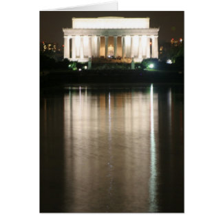 Lincoln Memorial Night Reflection Card