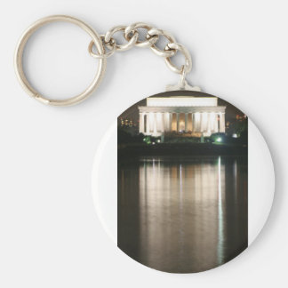 Lincoln Memorial Night Reflection Keychain