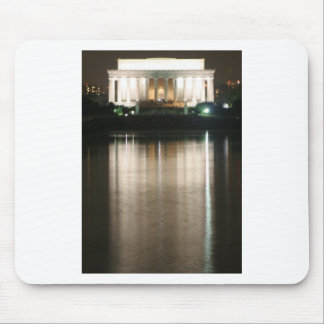 Lincoln Memorial Night Reflection Mouse Pad