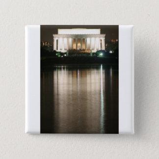 Lincoln Memorial Night Reflection Pinback Button