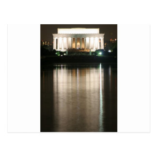 Lincoln Memorial Night Reflection Post Cards