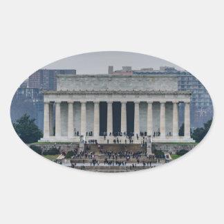 Lincoln Memorial Oval Sticker