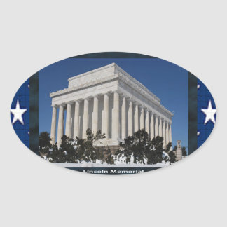 Lincoln Memorial Oval Sticker