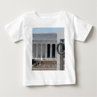 Lincoln Memorial photo view from WWII memeorial Baby T-Shirt