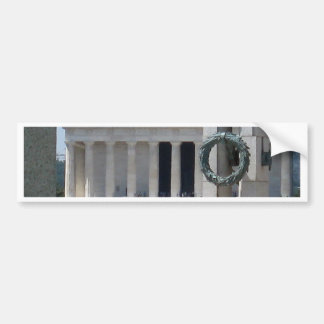 Lincoln Memorial photo view from WWII memeorial Bumper Sticker