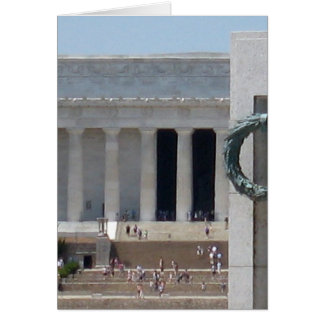 Lincoln Memorial photo view from WWII memeorial Card