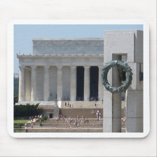 Lincoln Memorial photo view from WWII memeorial Mouse Pad