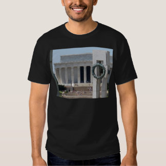 Lincoln Memorial photo view from WWII memeorial T-shirts