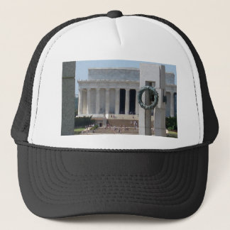 Lincoln Memorial photo view from WWII memeorial Trucker Hat