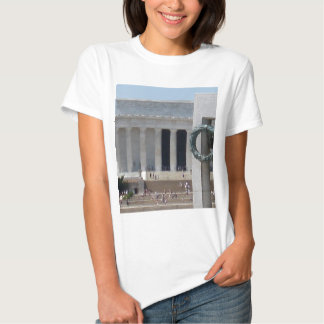Lincoln Memorial photo view from WWII memeorial Tshirt