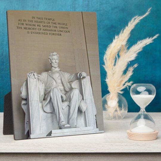Lincoln Memorial plaque