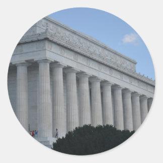 Lincoln memorial profile.JPG Classic Round Sticker