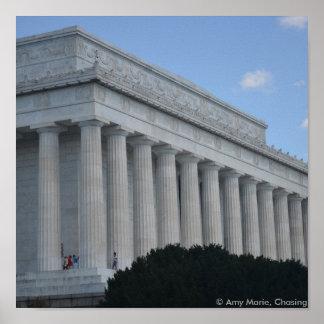 Lincoln memorial profile.JPG Poster