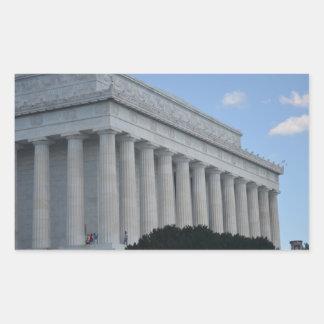 Lincoln memorial profile.JPG Rectangular Sticker