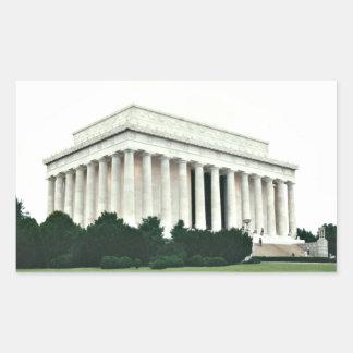 Lincoln Memorial Rectangular Sticker