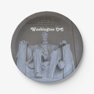Lincoln Memorial 7 Inch Paper Plate