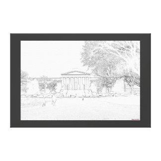 Lincoln Memorial Sketch Canvas