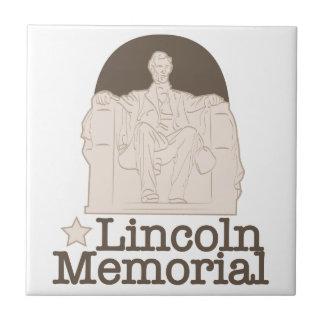 Lincoln Memorial Small Square Tile