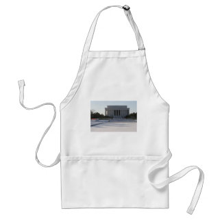 lincoln memorial snow adult apron