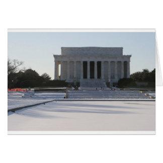 lincoln memorial snow card