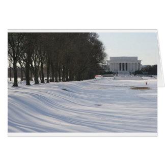 lincoln memorial snow cards