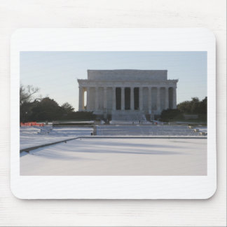 lincoln memorial snow mouse pad
